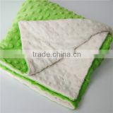 2016 Super Soft Personalized Hot Selling High Quality Minky Knitted Baby Blanket