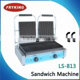 Ce Certificated Double Hands Press Sandwich Panini Contact Grill