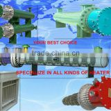 CE ISO horizontal stailess steel flange tubular explosion proof industrial oil electric heater