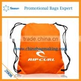 Fashion wholesale promotional 2016 gym sack drawstring cosmetic bag shopping bags