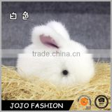 Wholesale luxury bunny patten fur car/bag accessory real rex rabbit fur keychain