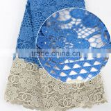 Alibaba China cotton guipure lace fabric/cord lace fabric for wedding dresses/guipure lace fabric african lace for Negiria party