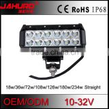 aluminum housing 36w led light bar offroad,wholesale 36w car led light bar combo beam
