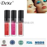 Dexe Cosmetic lip gloss lipstick lip tattoo with glitter red colors for lips
