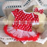 baby girl dress in red color new born baby dress