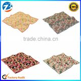 Japanese Various Floral Organic Cotton Mens Pocket Square