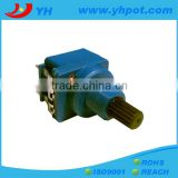 jiangsu 17mm high power 5 pin rotary 10k potentiometer with switch for dimmer