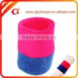 2015 red & dark blue sports cotton sweatband