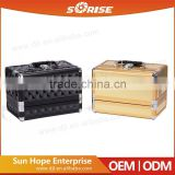 China Wholesale Gold Aluminium Designer Vanity Cases