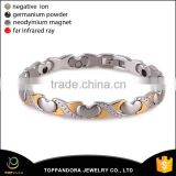 Alibaba website wholesale fashion stainless steel friendship magnetic power energy bracelet price