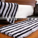 Customized Size Cheap Price Chinchilla Fur Rex Rabbit Fur Rug With Fashionable Factory Design