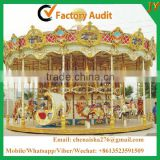 China supplier kids amusement carousel rides playground equipment merry go round for sale