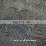 Colorful leaf print cotton denim fabric for shirts