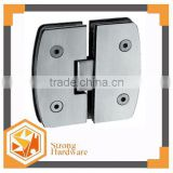 Camber 180 degree glass to glass Mirror/Satin Stainless steel straight edge door door hinge 6mm-12mm shower door hinges