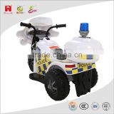 6V 3AH kids toys three wheels police emulation car electric operated ride on motorcycle with EN71 ROHS EMC certificate
