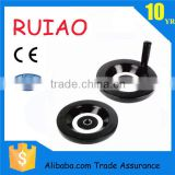 black nylon plastic back corrugation handwheels with folded handle used for cnc machine made in china
