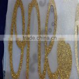 attractive organza fabric with gold glitter,Gold Glitter laser cutting,best-selling PET gold glitter for sale