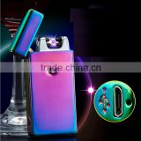 2016 Cigar Lighter Smoking Accesories, Electronic Windproof Dual Beam X Arc lighter rechargeable
