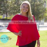 bamboo spandex jersey red baby car seat fashion mummy breastfeeding nursing cover