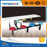 high quality indoor commercial fiberglass dinning table and chair for school canteen furniture