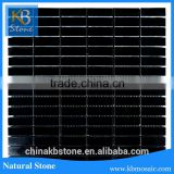 Natural stone black marble natural basalt wall quarry stone