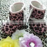 Fashion pattern baby girl heated boots for newborn baby girl with wholesale price and top quality