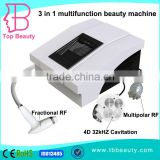 Ultrasonic Contour 3 In 1 Slimming Device Professional Portable Fractional RF Fat Reduction 4D Cavitation Lipo Slimming Machine