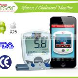 High Quality Hot New Products, FDA ISO Bluetooth Glucometer, Easy Touch Blood Glucose / Cholesterol Meter, SIFGLUCO-3.1