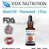 30 ml Bottle Beard Oil - Pearwood Scented - Private Label Beard Oil Hair and Skin Care Supplement