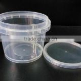 Wholesale candy plastic bucket/pail with lid,Clear PP food contaier for food, popcorn bucket