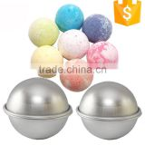 Brushed Finish Stainless Steel And PP Half Ball 55mm 65mm Bath Bomb Mold
