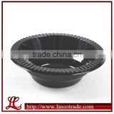 Party Black Plastic PS Disposable Bowl