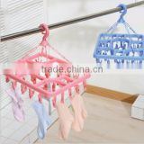 OEM cheap plastic hanger for socks/Home dress plastic hanger wholesale/creative plastic hanger for socks maker