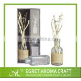 Popular customized glass bottle with rattan sticks for automatic sola flower fragrance diffuser