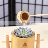 Nature Bamboo Flower Vases Bamboo Poles Material With Spoon