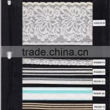 Custom high quality nylon spandex woven/knit jacquard elastic webbing with silicone coated