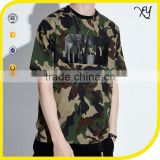 Fashion wholesale mens clothing blank camo t shirts