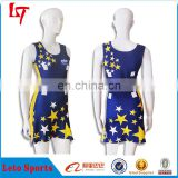Customized order cheerleading uniforms sexy pom-pom girl glee costume navy outfit