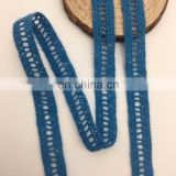 1.2cm stainless steel auto OLCT070 ladder design lace trim embroidery cotton