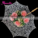 30cm small lace parasol christmas decoration