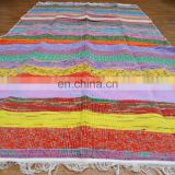 Recycled Hand Woven Chindi Rug Rag Handmade Floor Runner Dari Cotton
