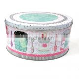 Handmade cookies tin boxes frosted round cans storage tank sugar sundries box tea save canister