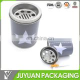 Custom round metal tin made ashtray products