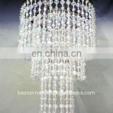 Acrylic Spiral Beaded Chandelier