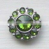 2013 fashion metal sparkly rhinestone button
