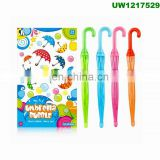 Bubble Wands 14'' Big Pack Assorted Colors Non Toxic Summer Activity Party Favor Birthday Gift - 1 Dozen