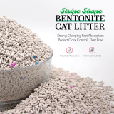 Haosen cat litter bentonite strip cat litter dust less good
