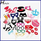 Photo Booth Props 31PCS DIY Kit for Wedding Party Reunions Birthdays Photobooth Dress up Accessories Party Favors PFB0018                                                                         Quality Choice