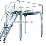 Adjustable height work platform with lifting height
