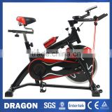 Solid Steel Duty Flywheel Indoor Spin Exercise Bike Commercial Gym Fitness Bike Adjustable Fitness Train